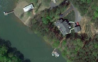 Satellite view of the Water Lane House