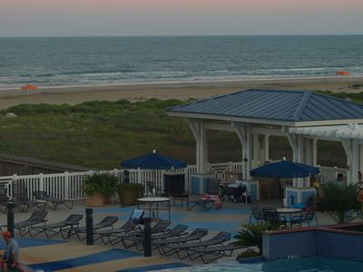 Galveston house rental - Beach Club grilling area