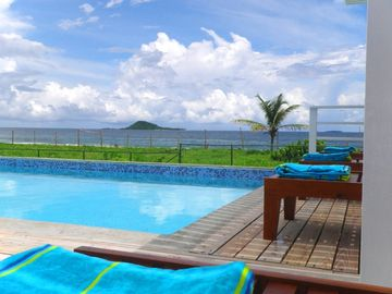 Saint Patrick District villa rental - MoonFish Villas view to sea, Sandy & Green Islands