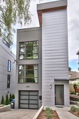 Seattle house photo - modern tower w/garage and roofdeck