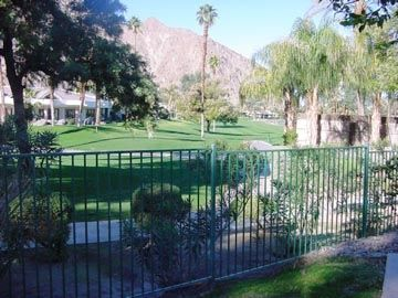 Indian Wells condo rental - View from patio of Indian Wells Country Club Fairway