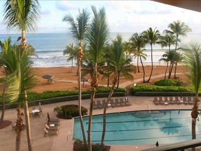 Actual view from our 4th floor balcony - better than any Rio Mar Resort room