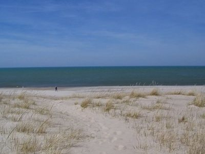 Michigan City house rental - The view as you walk to the beach