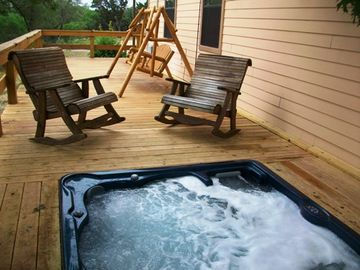 Hot tub and side deck