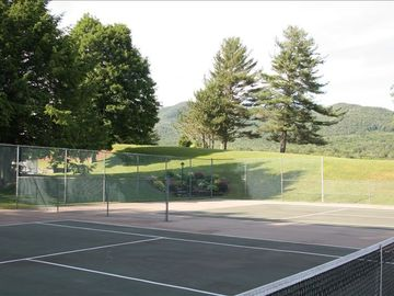 Lodge Condominiums Private Tennis Courts - a little rainy on photo day