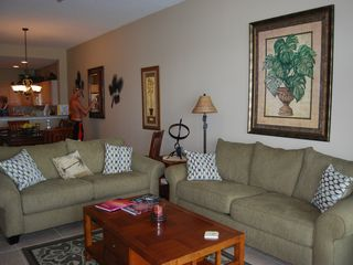 Clearwater Beach condo photo - Living Room to Balcony /2 New Sofa Beds Queens/ Sleeps 4 in Comfort.