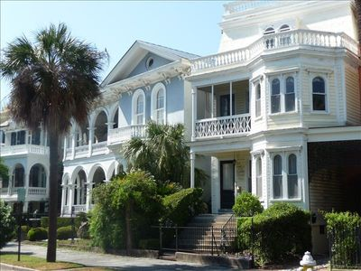 Visit downtown Charleston, the Battery, The old slave market, and Rainbow Row!