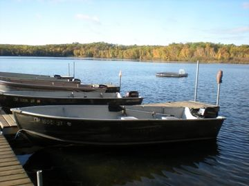 Each cabin comes with your boat, motor and gas (seasonal).