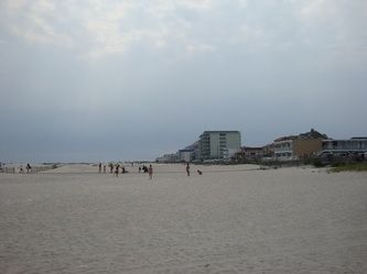 The Beach at Wildwood Crest is beautiful.