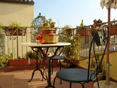 Syracuse apartment rental - Miramare terrace on the rooftops of Ortigia!