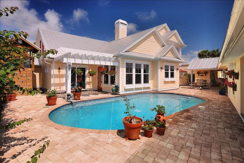 4200 square foot custom beach cottage with pool 260735 for Average square footage of a pool