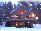 Front with snow - Bethel chalet vacation rental photo