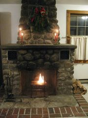 Conway cottage photo - Original Field Stone Fireplace