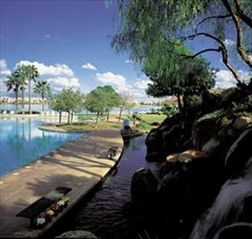 Waterfall and Lagoon Pool at the club house - Gilbert house vacation rental photo