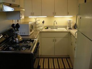 Santa Monica apartment photo - Full Kitchen w/ Gas Stove, Microwave, Blender, Toaster, Coffee Machine