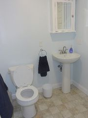 Matunuck house photo - Downstairs bathroom (shower stall)