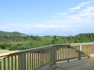 Lubec house photo - view from upstairs deck
