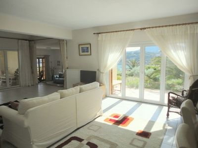 Almirida villa rental - Beautiful 10x6m lounge+ dining room