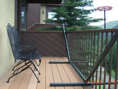 Master bedroom deck