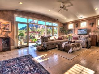 Sedona villa photo - Spacious Great Room with Large Outdoor Balcony and Stunning Views