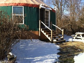Ithaca cottage photo - Cross country skiing only minutes away. Snowshoe & sled here.