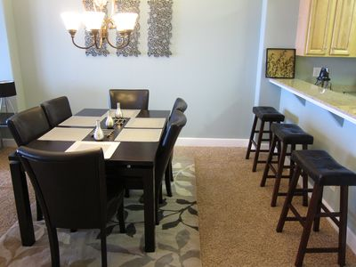 Enjoy family meals in dining and breakfast bar