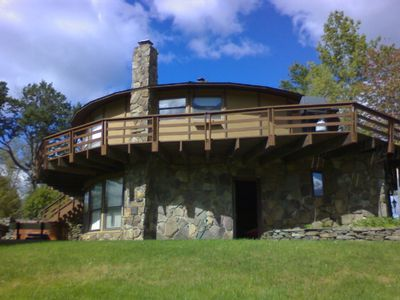 Side View of the Elk Roundhouse Lodge Summer