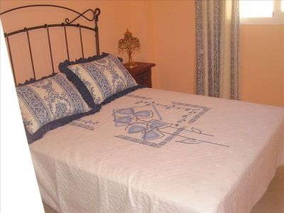 Main bed room. Gives out on terrace and on pedestrian street, Very quiet.,