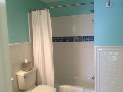 Completely refurbished upstairs bath.