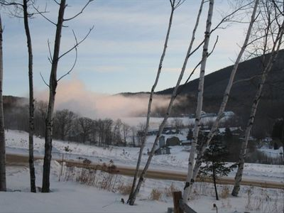 Snowmaking on an Early December Morning, view from home
