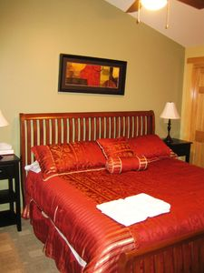 Rangeley Lake condo rental - Bedroom with King