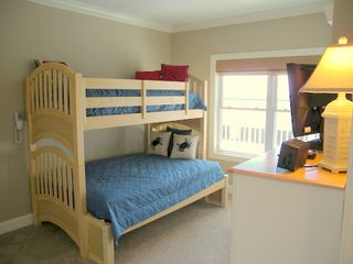 Belmont Towers Ocean City condo photo - Bedroom 3 with double and 2 single beds, (trundle under bunk)