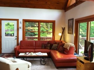 Great Room with Cathedral Ceiling & Massive Windows w/Outstanding Mountain Views