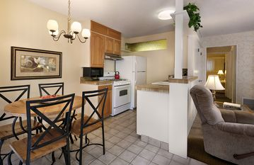 Santa Barbara apartment rental - Living Room, dining area and fully equipped kitchen