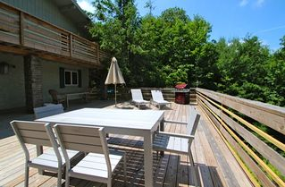 Woodstock house photo - Huge Furnished front Deck with gas grill accesses Pool area