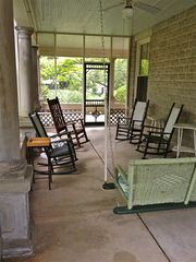 Oxford house photo - Enjoy a nice day on the screen porch overlooking University Avenue.