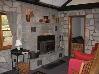 Margaretville cabin photo - Living Room with wood stove!