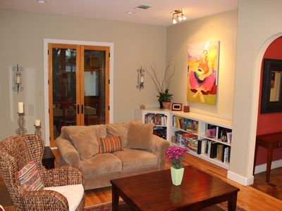 Home is decorated throughout with artwork by local artist