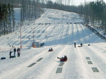 Hidden Valley snow tubing center.