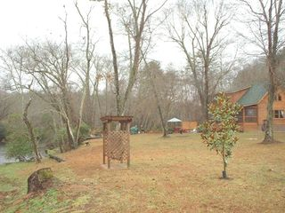 Blue Ridge cabin photo - Swing and Arbor at River's Edge