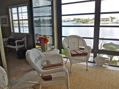 Vanderbilt Beach condo rental - Lanai with sliding doors to master bedroom