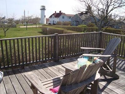 View from the deck to Lighthouse Beach