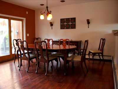 Plenty of room for the whole family in the dining room.