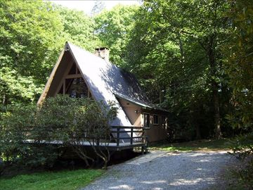 Blowing Rock cottage rental - Cool summer shade under the trees