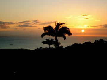 Gingerland villa rental - Sunset from the veranda!