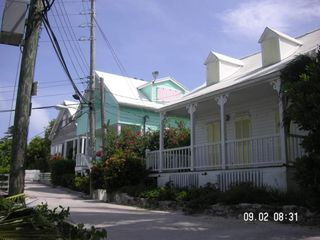 Elbow Cay and Hope Town villa photo - Typical historical Loyalist style homes with pedestrian only pathways