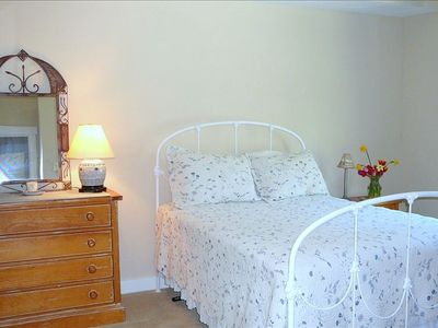 One the two guest bedrooms. All bed linens and towels are supplied as shown.