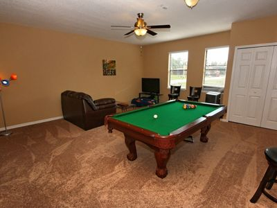 Large Games room with Large TV