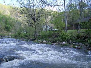 Asheville house photo - Our home is surrounded by the famous Cane River. Inner tubes avail in the barn
