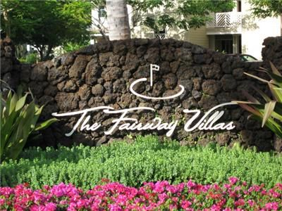 The entrance sign at Fairway Villas